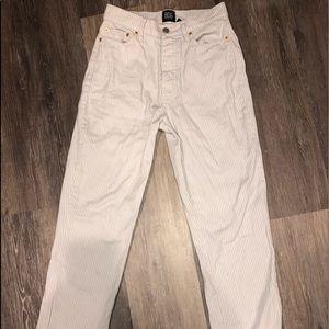 BDG slim straight leg striped jeans